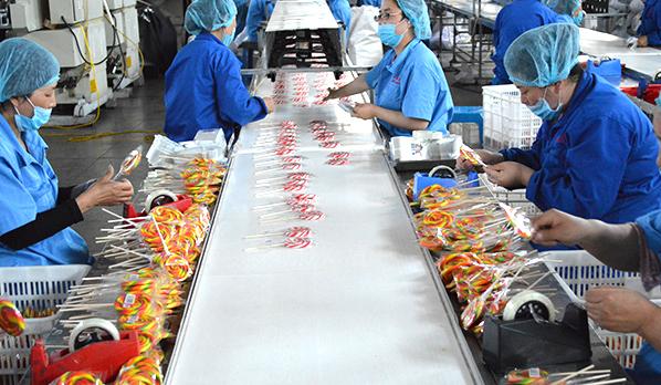 晋利糖果生产场景