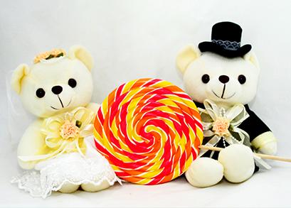 棒棒糖让婚礼更甜蜜