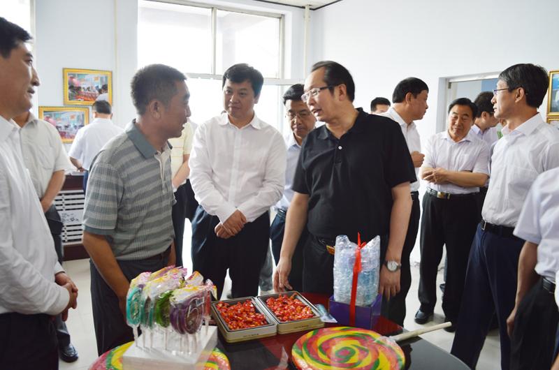 山西省副省长王一新率团莅临晋利糖果公司调研
