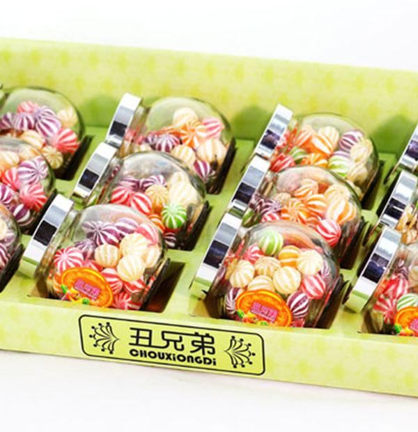 120g斜口罐绣球糖